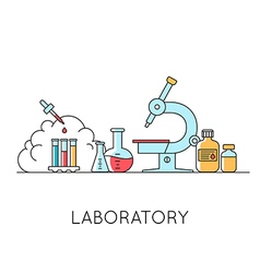 Medical and lab equipments vector