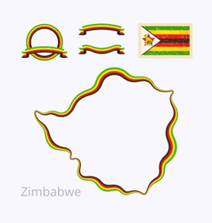 Colors of zimbabwe vector