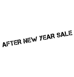 After new year sale rubber stamp vector
