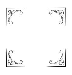 antique corners filigree and flourish elements vector image