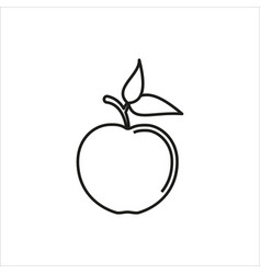 apple simple icon on white background vector image vector image