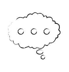 bubble speak cloud dialog message vector image