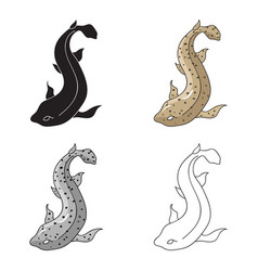 Catshark icon in cartoon style isolated on white vector