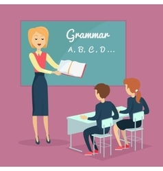 Children s Grammar Teaching vector image