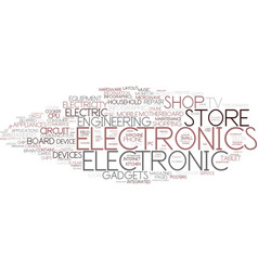 Electronics word cloud concept vector