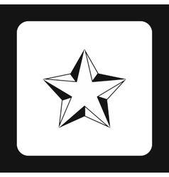 Five pointed convex star icon simple style vector