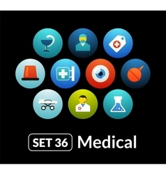 Flat icons set 36 - medical collection vector image vector image