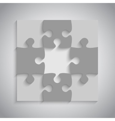 Grey Puzzles Piece JigSaw - 9 Pieces vector image vector image