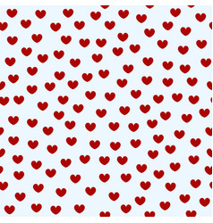 heart pattern seamless valentine love background vector image