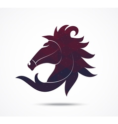 Horse abstract icon isolated on white vector image