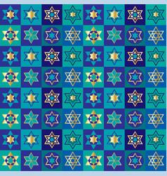 Jewish stars checkerboard background pattern vector
