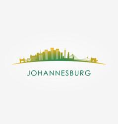 Johannesburg south africa skyline silhouette vector