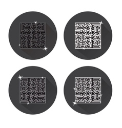 Maze Icons vector image vector image