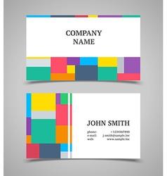 Modern light business card template vector image