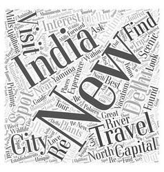 New delhi india travel word cloud concept vector