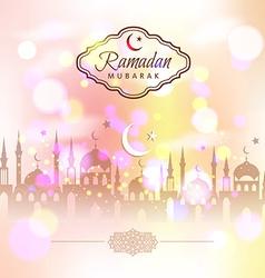Ramadan kareem abstract background vector