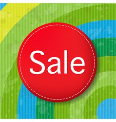 Red Sale Poster With Color Line vector image vector image