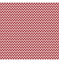 Seamless pattern consisting of small red hearts vector image vector image