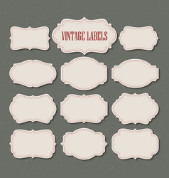 set vintage labels and frame vector image