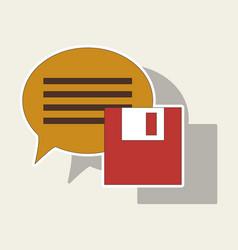 Sticker text message icon speech bubble symbol vector
