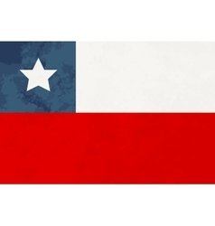 True proportions Chile flag with texture vector image vector image