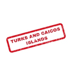 Turks and caicos islands rubber stamp vector