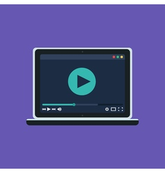 Web Template of Notebook Video Player vector image