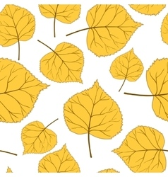 yellow autumn leaves vector image vector image
