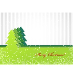 Christmas background with green fir-tree vector image