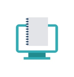 Computer desktop monitor with seo icon vector