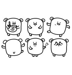 bears cute vector image
