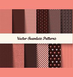 Seamless geometric patterns vector