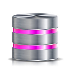Network database disc icon highly detailed vector