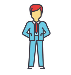 businessman manager ceo boss management vector image