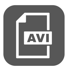 The avi icon video file format symbol flat vector