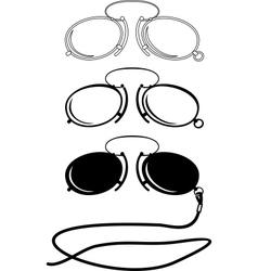 vintage glasses vector image