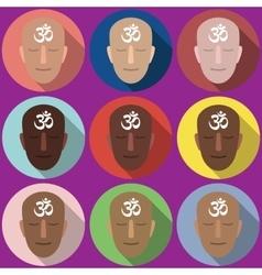 Portraits symbol om vector
