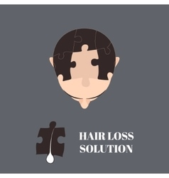 Hair loss solution vector