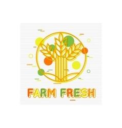 Farm Fresh Concept Farm Fresh Background Farm vector image