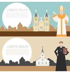 Catholic church banner vector