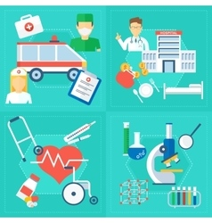 Medical concept set of image vector