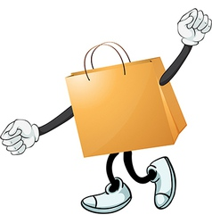 A yellow bag vector image vector image