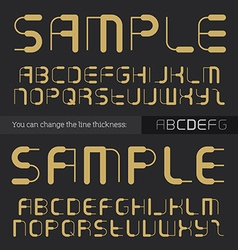Abstract font for titles alphabet you can change vector