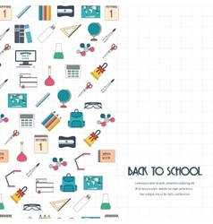 Back to school concept Back to school banner vector image