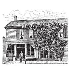 Birthplace of william mckinley vintage vector