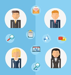 Business teamwork concept flat vector image