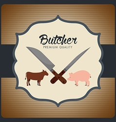 butcher menu vector image