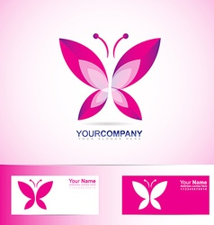 Butterfly logo for spa and beauty vector image
