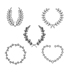 Calligraphic wreath vector