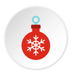 christmas ball icon circle vector image